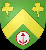 Les armes de la commune de Graye-sur-Mer se blasonnent ainsi : De sinople au chevron d'or accompagné, en chef, de deux trèfles du même et, en pointe, d'un besant d'argent bordé de gueules chargé d'une ancre avec sa gumène.