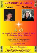 Concert Paris, 8 novembre 2012, cliquez pour agrandir l'image