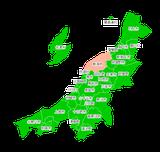 ポスティング新潟(甲信越関東中部)配布部数表