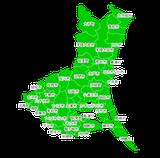 ポスティング茨城(関東首都圏)配布部数表