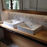 Bad Waschtisch bei einem Kunden der Schreinerei Michels in Mönchengladbach