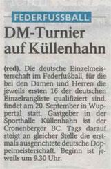 Westdeutsche Zeitung Bericht vom 11.06.2003