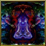 Bild Kunst Art Edelstein mit Mandala