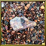 Stein auf Feld, Edelstein, Achat