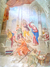 "Gemälde ""Vertreibung aus dem Tempel"""