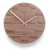 Wanduhren, Holz Wanduhr, Küchenuhr, Südtirol, Holzschmuck, huamet.