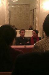con Philip Glass (ph. Giulia Vianello)