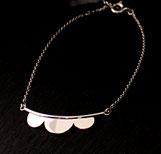 Bracelet pour femme fait main en argent 925 motif Festons