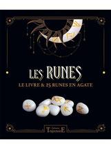 Les Runes - Le livre & 25 runes en agate, Pierres de Lumière, tarots, lithothérpie, bien-être, ésotérisme