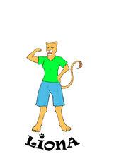 Liona, die starke Löwin, Logo