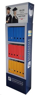 Bücherregal Bücherschrank Ordnerschrank aus Pappe, bedruckt