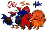 Olly, Sya & Millie