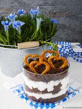 Schichtkuchen mit Biercreme