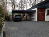 Uitbouw + carport