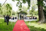 Elegante Hochzeit am Seepavillion des Schloss Diedersdorf