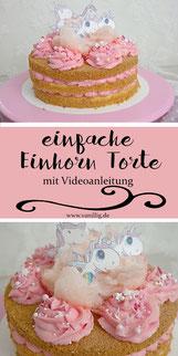 Einhorn Torte mit Cream Cheese