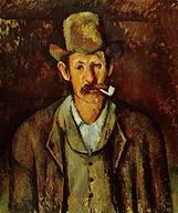 Cézanne fume la pipe mais pas une Louis Vuitton