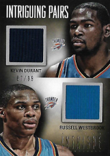 DURANT  WESTBROOK / Intriguing Pairs - No. 18  (#d 67/99)