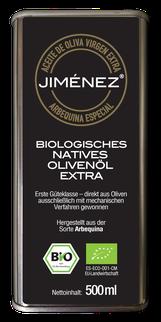 Olivenöl Arbequina Virgen Extra 0,1% Säure