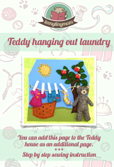 Quiet book freebook Teddy laundry