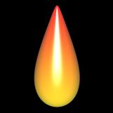 Flamme Tropfen abgerundet