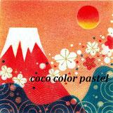 赤富士と青海波