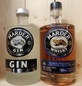 Marder Gin und Whisky