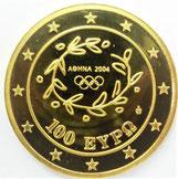 K24 純金 ゴールド 2004年 100ユーロ アテネ五輪 金貨