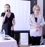 Инна Грубмайр и председатель Координационного совета российских соотечественников Хорватии Елена Пиличева-Чорко