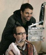 Harley Neville (Wesley) und Regisseur Guy Pigden kennen sich seit der High School-Zeit