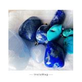 Calcit blau, Türkis, Sodalith, Lapislazuli, Azurit Blauquarz, Calcedon blau