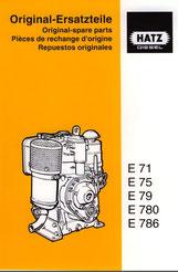 Ersatzteilliste Hatz E71, E75, E79, E780, E786