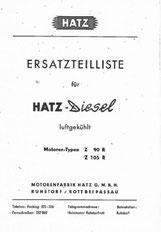Ersatzteilliste Hatz Z90R, Z105R