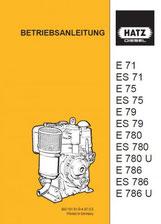 Betriebsanleitung E71, ES71, E75, ES75, E79, ES79, E780, ES780, E780U, E786, ES786, E786U