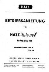 Betriebsanleitung Hatz Z90R, Z105R
