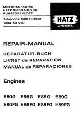Reparatur-Buch Hatz E80G, E80FG, E85 G, E85 FG, E88G, E88FG, E89G, E89FG