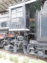 蒸気機関車 D512号機の運転台