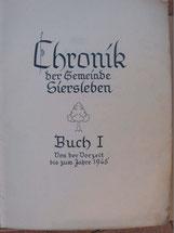 Titelblatt der Original- Ortschronik (per Klick vergrößern)
