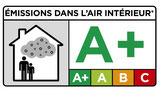 Label A+ pour les émissions de substances volatiles dans l'air intérieur