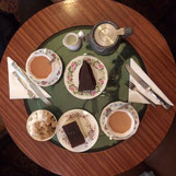 Louis Patisserie Hampstead tearoom London - tea and cake