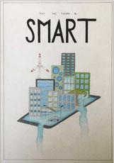 Lotta Jahns versinnbildlicht die Vision der Smart Cities - Smart Villages.
