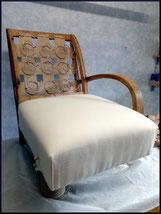 marylinegrac-tapissier d'ameublement-Fauteuil Voltaire.Ttravail de rénovation