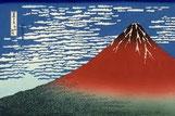 「赤富士」葛飾北斎