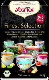 Finest Selection Bio Yogi Tee, leckerer ayurvedischer Tee, Gewürz-Kräuter-Tee-Mischung, 9 verschiedene Sorten - Yogi Tea