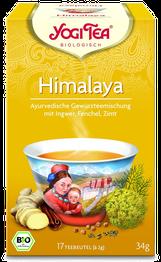 Himalaya Chai Bio Yogi Tee, traditionelle ayurvedische Tee-Mischung, Bio-Qualität - 3x 17 Tee-Beutel, würziger Kräuter-Tee
