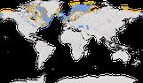 Karte zur Verbreitung des Gryllteistes Cepphus grylle)