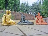 sculpture érotique femme couple enlacé nu