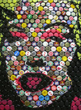 Marilyn Monroe made of caps