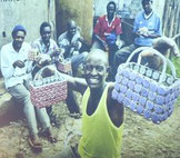 African factory for handbags made of recycled bottle caps.