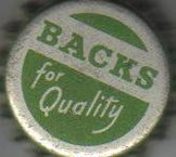 Beer? No: Backs for Quality is soda from South Africa ~1965.